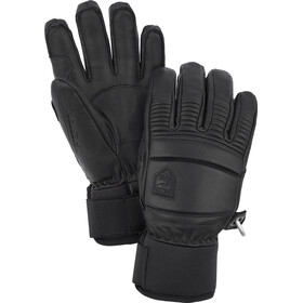 Hestra Leather Fall Line 5 Finger Gloves, black